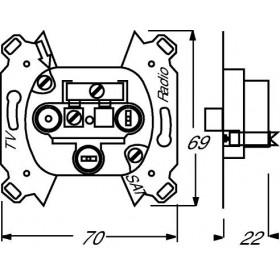 Μηχανισμός TV/R/SAT Τερματική 0232-101 Busch-Jaeger