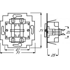Μηχανισμός Διακόπτη Ρολών Πλήκτρου 2000/4US Busch-Jaeger