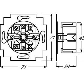 Μηχανισμός Μπουτόν Ρολών Περιστροφικό 2723U Busch-Jaeger