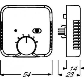 Μηχανισμός Θερμοστάτη 1095U Busch-Jaeger