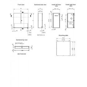 Ερμάριο Μεταλλικό 1000x1000x300mm Με Πλάτη IP55 MAD ELDON