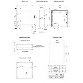 Ερμάριο Μεταλλικό 700x500x210mm Με Πλάτη IP66 MAS ELDON