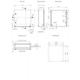 Ερμάριο Μεταλλικό 800x1200x300mm Με Πλάτη IP66 MAS ELDON