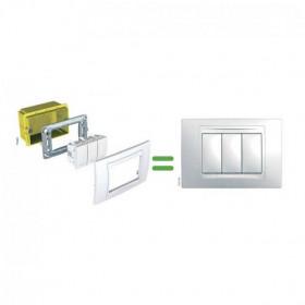 Βάση Στήριξης Με Βίδες Πλαστική 2 Στοιχείων Unica