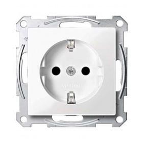 Πρίζα Σούκο Ασφαλείας Λευκό System-M
