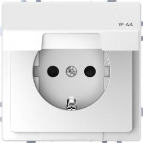 Πρίζα Σούκο Ασφαλείας Με Καπάκι IP44 Λευκό D-Life