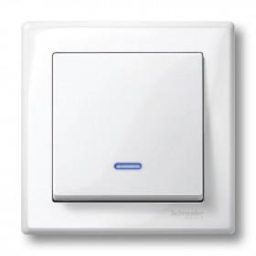 Μετώπη 1 Πλήκτρου Φωτεινής Λειτουργίας Λευκό System-M