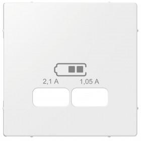 Μετώπη Πρίζας Διπλής USB Λευκό System-M
