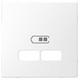 Μετώπη Πρίζας Διπλής USB Λευκό D-Life