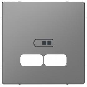 Μετώπη Πρίζας Διπλής USB Ατσάλι D-Life