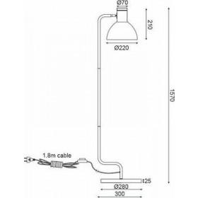 Φωτιστικό Δαπέδου Λευκό Ε27  EF36F1157 ACA
