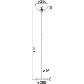 Φωτιστικό Δαπέδου Λευκό Και Χρώμιο E27 KS2026 ACA