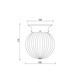 Φωτιστικό Μονόφωτο E27 Διάφανο SU0607CB ACA LIGHTING