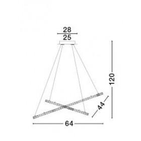 Φωτιστικό LED 40W 3500K Χρώμιο Celine 7403001 NOVA LUCE