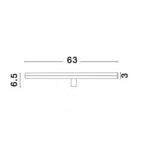 Απλίκα Μπάνιου LED 18W 3000k Χρώμιο Vanese 787008 NOVA LUCE