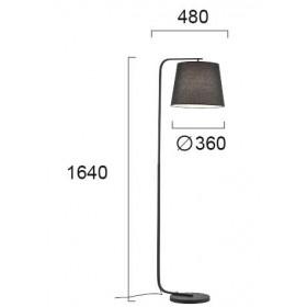 Φωτιστικό Δαπέδου E27 Μαύρο Cobbe 4175000 VIOKEF