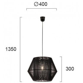 Φωτιστικό Μονόφωτο E27 Μαύρο Zaira 4198101 VIOKEF