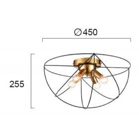 Φωτιστικό Τετράφωτο Ε14 Μαύρο Και Χρυσό Atom 4251900 VIOKEF