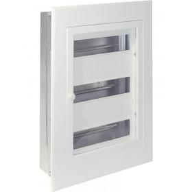 Πίνακας Χωνευτός 3 Σειρών 14 Στοιχείων Λευκός Διάφανη Πόρτα ΦΩΤΚΑ