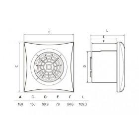Εξαεριστήρας Μπάνιου Φ100mm Λευκός Με Χρονοκαθυστέρηση SILENT 100 CRZ S&P
