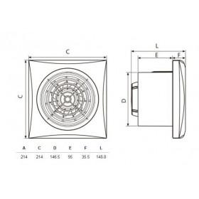 Εξαεριστήρας Μπάνιου Φ150mm Λευκός SILENT 300 CZ S&P