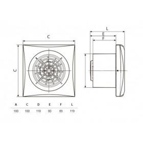 Εξαεριστήρας Μπάνιου Φ120mm Λευκός SILENT 200 CZ S&P
