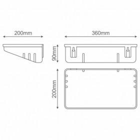 RT-30/HACCP/SL Ηλεκτρικό Εντομοκτόνο Με Λάμπες 2x8W, Κάλυψη 40τ.μ. Και Κόλλα, Ασημί