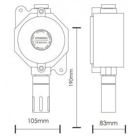 TS 293 PX-Η Αναλογικός Ανιχνευτής Αερίων Αντιεκκρηκτικού Τύπου Για Διάφορα Αέρια