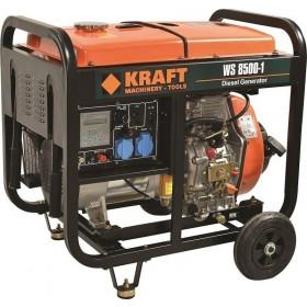 Ηλεκτρογεννήτρια Πετρελαίου Με Μίζα 6kW WS8500-1 KRAFT