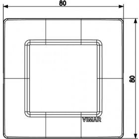 Πλαίσιο 2 Στοιχείων Λευκός Γρανίτης Plana VIMAR