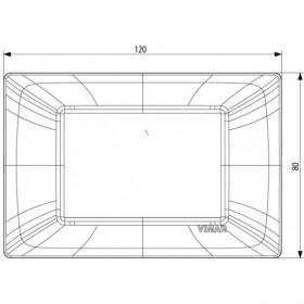 Πλαίσιο Reflex 3 Στοιχείων Ρουμπίνι Plana VIMAR