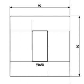 Πλαίσιο 1 Στοιχείου Ασημί 19641.79 Arke VIMAR