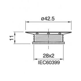 Ροδέλλα E14 Μεταλλική Νίκελ ARDITI