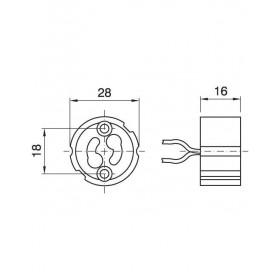 Ντουί GU10 Με Καλώδιο Τεφλόν 20cm ARDITI