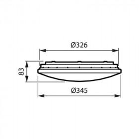 Πλαφονιέρα LED 19.5W 4000Κ IP44 Με Ανιχνευτή Λευκό WL060V PHILIPS