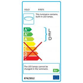 Πλαφονιέρα LED 17,3w 3000k Λευκό Frania 97875 EGLO